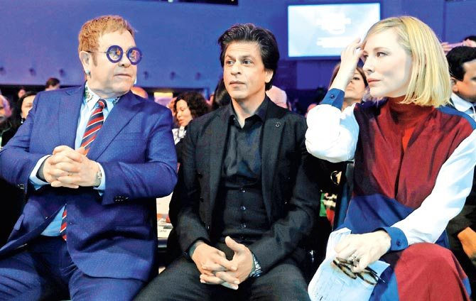 SRK with Cate Blanchett and Elton John