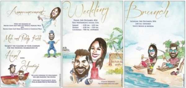 yuvraj and hazel wedding invite